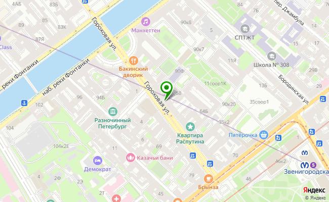Сбербанк Санкт-петербург ул. Гороховая 58, лит. А карта
