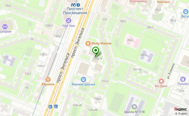 Сбербанк Санкт-петербург проспект Энгельса 133, корп.1, лит. Е карта