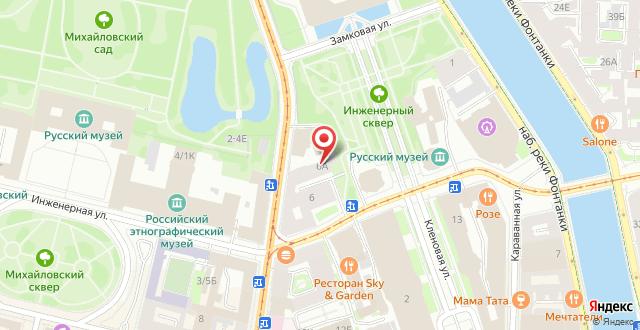 Гостиница Большого Санкт-Петербургского государственного цирка на карте