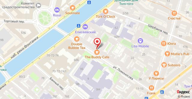 Гостевые комнаты на Ломоносова 14 на карте