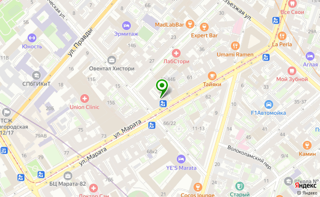 Сбербанк Санкт-петербург ул. Марата, 65/20, лит. А карта