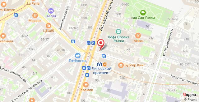 Samsonov Hotel on Ligovsky 84 на карте