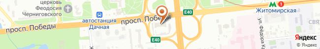 Автошкола Лидер-Драйв на карте, г. Киев, пр-т Победы, 123