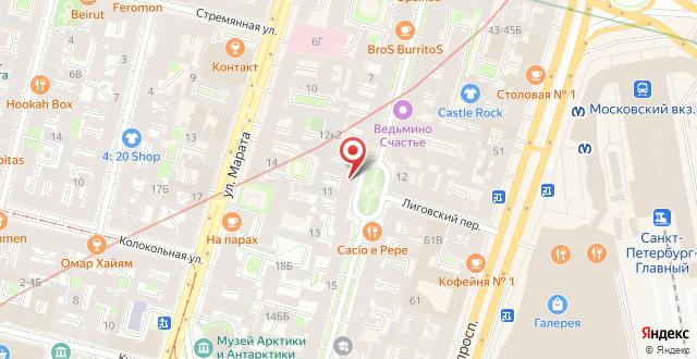 Отель У Пушкина на карте