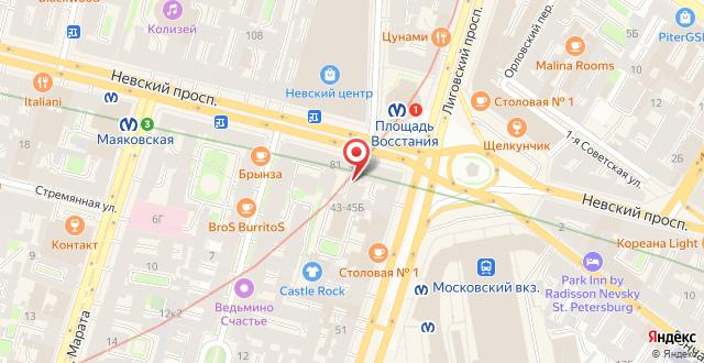 Отель Питер Хаус на карте