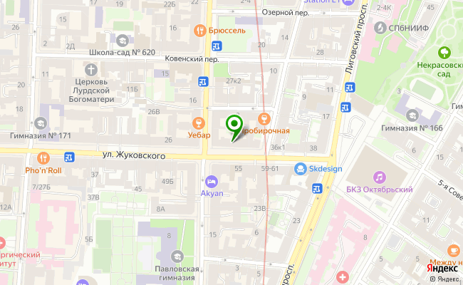 Сбербанк Санкт-петербург ул. Жуковского 30, лит. А карта