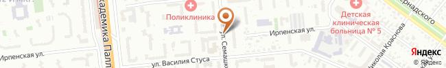Автошкола Жайворонок на карте, г. Киев, ул. Семашко, 9, СШ №200