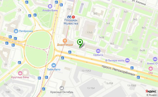 Сбербанк Санкт-петербург проспект Непокоренных 2, литер А карта
