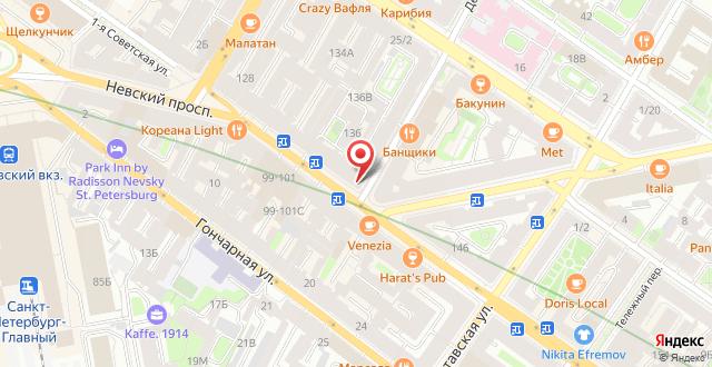 Отель Невский 140 на карте