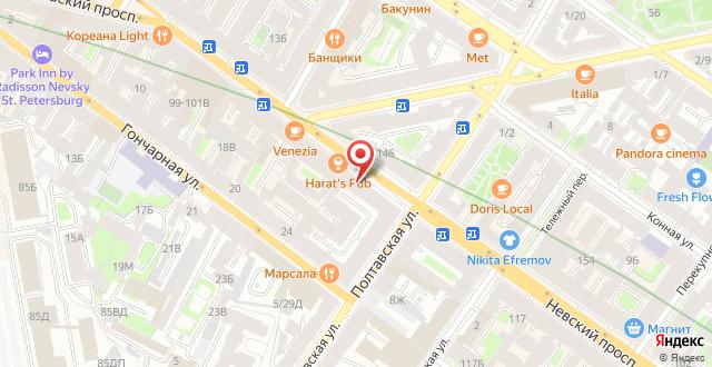 Мини-отель Номера на Невском 111 на карте