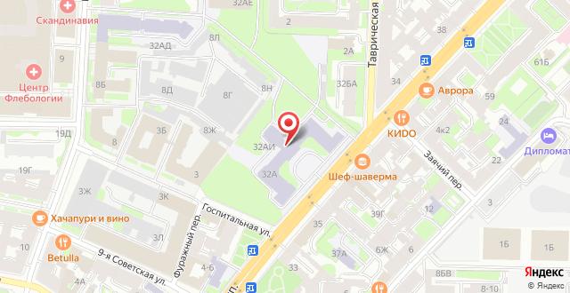 Отель Северный на карте