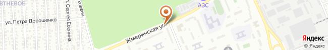 Автошкола Сигнал на карте, г. Киев, Борщаговка, ул. Жмеринская 20, СШ №215