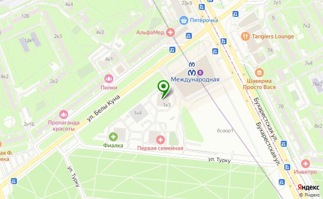 Сбербанк Санкт-петербург ул. Белы Куна 1, корп.3 карта