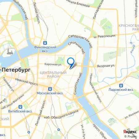 дом на Кирочной на карте