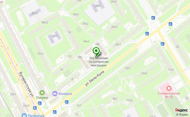 Сбербанк Санкт-петербург ул. Белы Куна 16, лит. А карта