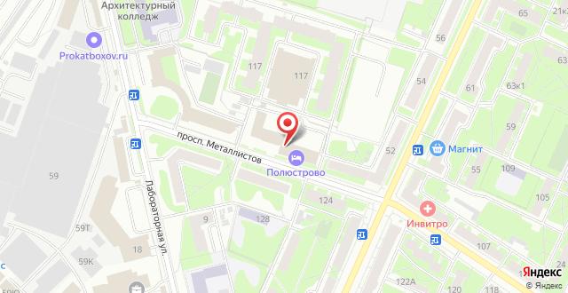 Гостиница Полюстрово на карте