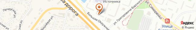Автошкола Агат на карте, г. Киев, ул. Большая Окружная, 3