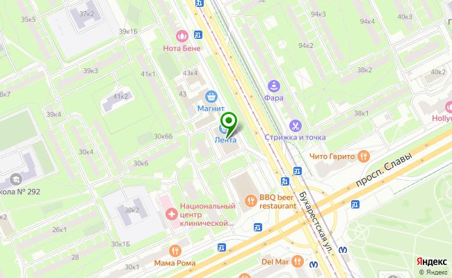 Сбербанк Санкт-петербург ул. Бухарестская 43, лит. А карта