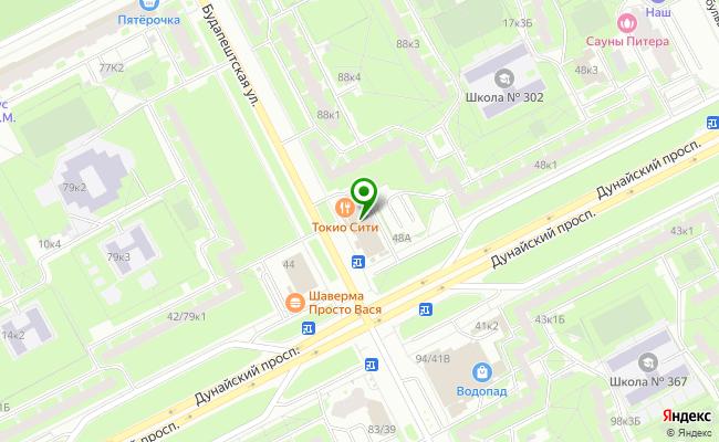 Сбербанк Санкт-петербург ул. Будапештская 92, лит. А карта