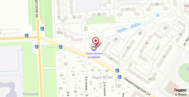 Отель Охотничья Усадьба на карте