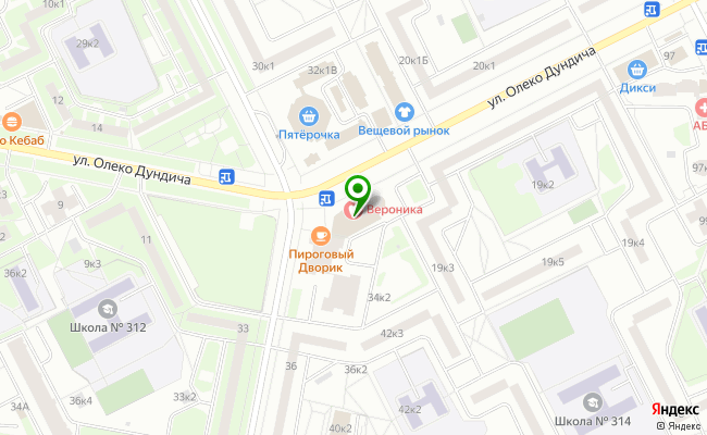 Сбербанк Санкт-петербург ул. Олеко Дундича 17, корп.1, лит. А карта