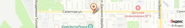Автошкола МСТК OСО Украины на карте, г. Киев ул. Щербакова, 45-а