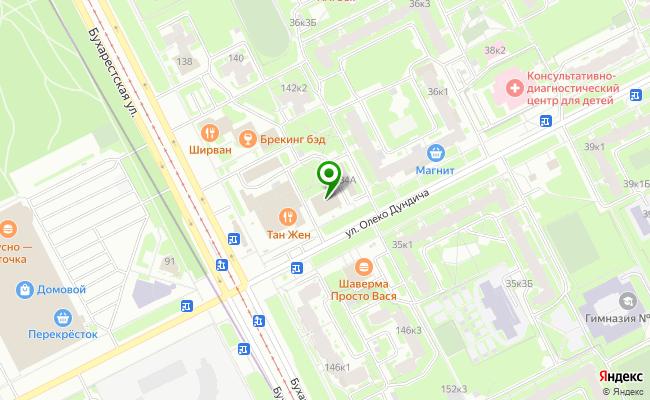 Сбербанк Санкт-петербург ул. Олеко Дундича 34, корп.1, лит. А, пом. 2Н карта