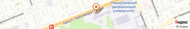 Автошкола при НАУ на карте, г. Киев, проспект космонавта Комарова 1, корпус 8, комната 104а