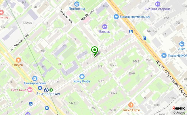 Сбербанк Санкт-петербург проспект Елизарова 3, лит. А карта