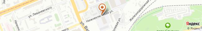 Автошкола при НТУУ КПИ на карте, г. Киев, ул. Нижнеключевая