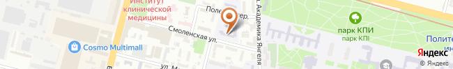 Автошкола Альфа и Серна 2000 на карте, г. Киев, ул. Смоленская, 4