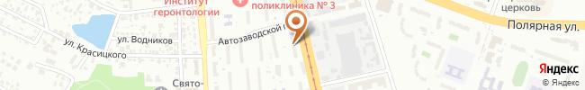 Автошкола Онега на карте, г. Киев, ул. Автозаводская, 89-А