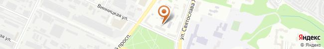 Автошкола Вираж на карте, г. Киев, ул. Винницкая, 10