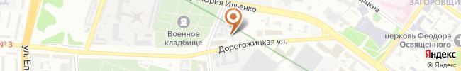 Первая Киевская Мотошкола на карте, г. Киев, ул. Дорогожицкая, 6Б