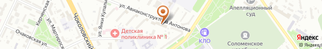 Автошкола Бахмацкого на карте, г. Киев, ул. Авиаконструктора Антонова, 5