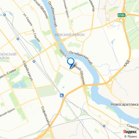 Невская звезда на карте