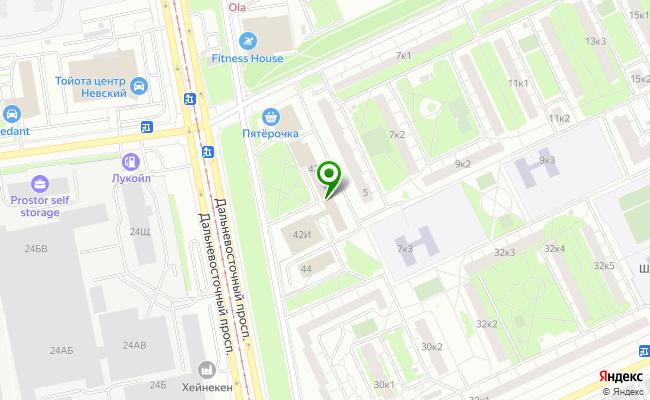 Сбербанк Санкт-петербург проспект Дальневосточный 42, лит. Е карта