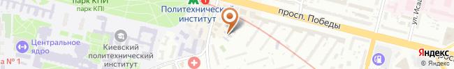 Автошкола Автомат на карте, г. Киев, проулок Политехнический, 3А, лицей «Универсум» (второй этаж)