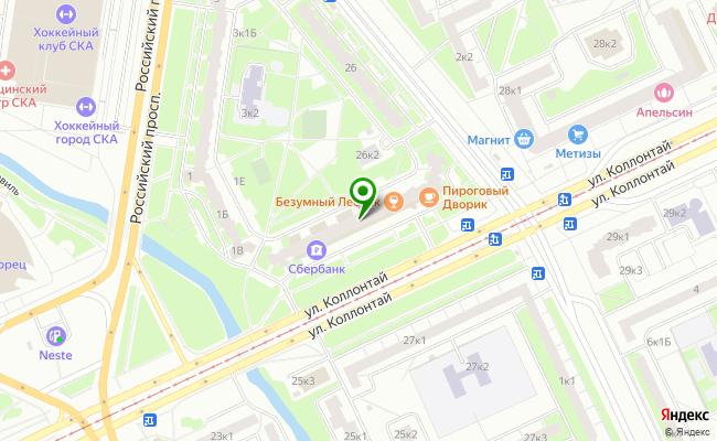 Сбербанк Санкт-петербург ул. Коллонтай 24, корп.2, лит. А карта