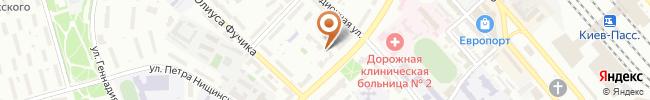 Автошкола Автоакадемия водительского мастерства на карте, г. Киев, Воздухофлотский пр. 16, офис 44