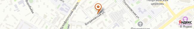 Автошкола Унисерв на карте, г. Киев, ул. Богдановская, 10