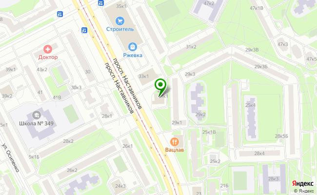 Сбербанк Санкт-петербург проспект Наставников 31, корп.1, лит. А карта