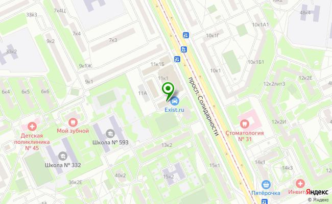 Сбербанк Санкт-петербург проспект Солидарности 11, корп.1, лит. В карта
