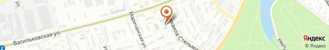 Автошкола Освита-Авто на карте, г. Киев, ул. М.Стельмаха 9, 1 этаж