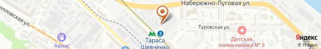 Автошкола ДЮСТШ по автомотоспорту на карте, г. Киев, ул. Еленовская, 23