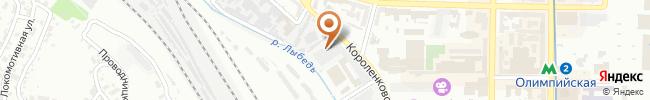 Автошкола Онега на карте, г. Киев, ул.Короленковская, 4