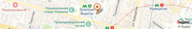 Автошкола Сигнал на карте, г. Киев, ул. Б. Хмельницкого 16-22, 2-ой этаж