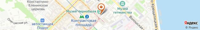 Автошкола Онега на карте, г. Киев, ул.Спасская, 9-А