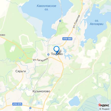 Токсово-Короткий на карте