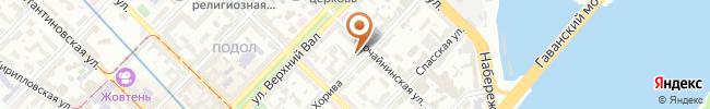 Автошкола АвтоМаг на карте, г. Киев, ул. Хорива, 43